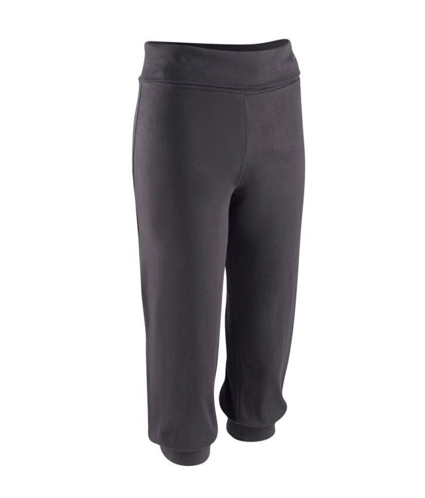 DOMYOS Wb1 Org Women's Yoga Cropped Leggings By Decathlon