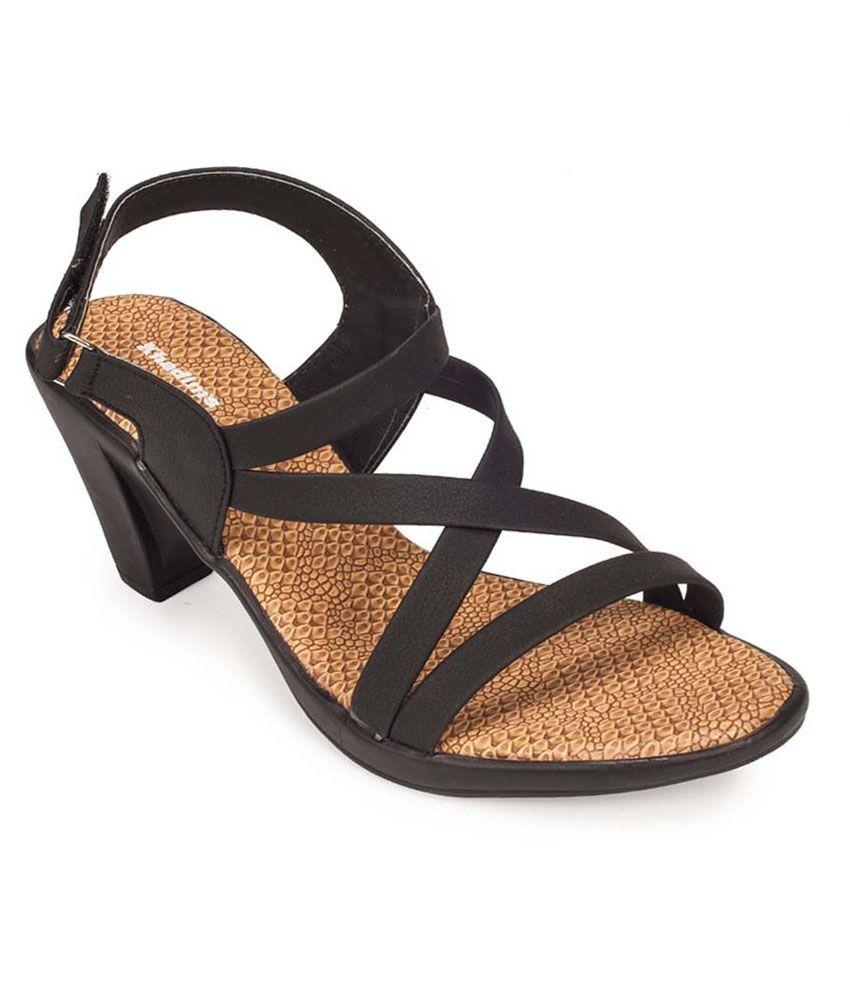 300afb56969cd Khadim s Black Block Heels Price in India- Buy Khadim s Black Block Heels  Online at Snapdeal