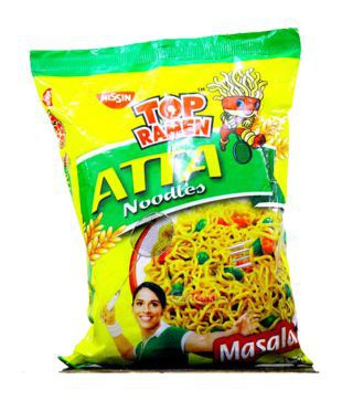 Top Ramen Atta Masala Noodles  70 gm available at SnapDeal for Rs.13