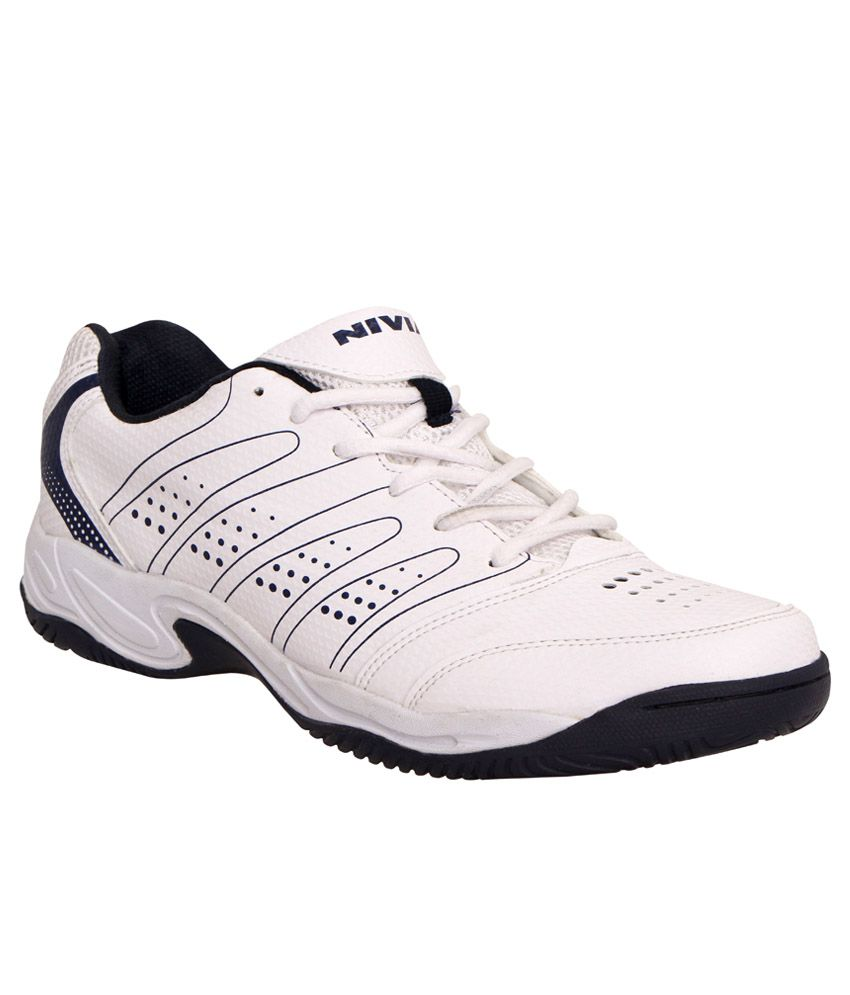 Nivia Zeal Court White Tennis Sports Shoes-18307