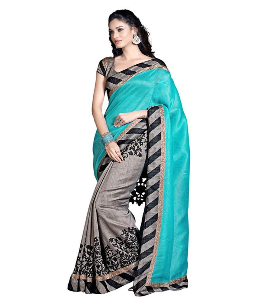 PR Creation Multicoloured Bhagalpuri Silk Saree