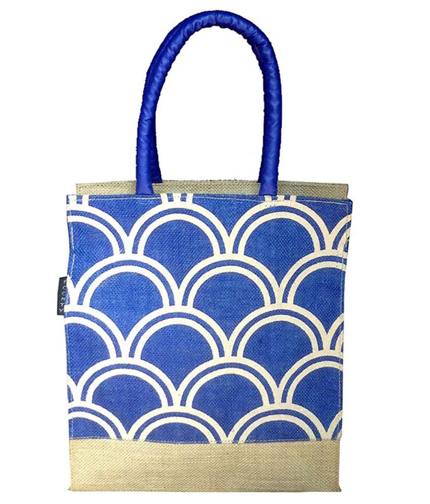 Foonty Blue and Beige Lunch Bag