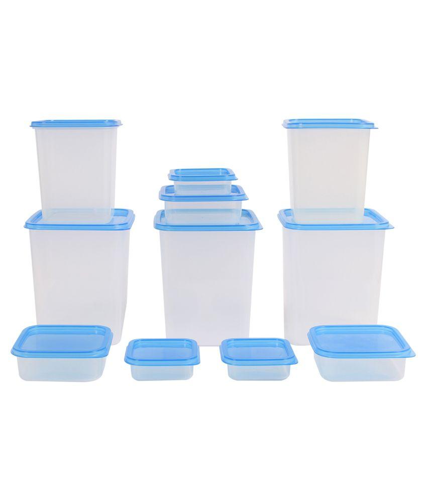 Gluman Blue Polypropylene Kitchen Storage Container Box Set Of 11