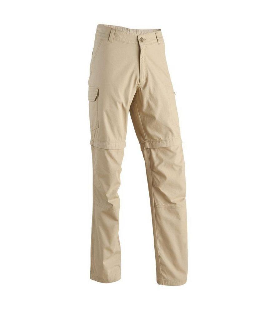 QUECHUA Arpenaz 100 Men's Convertible Hiking Trousers By Decathlon