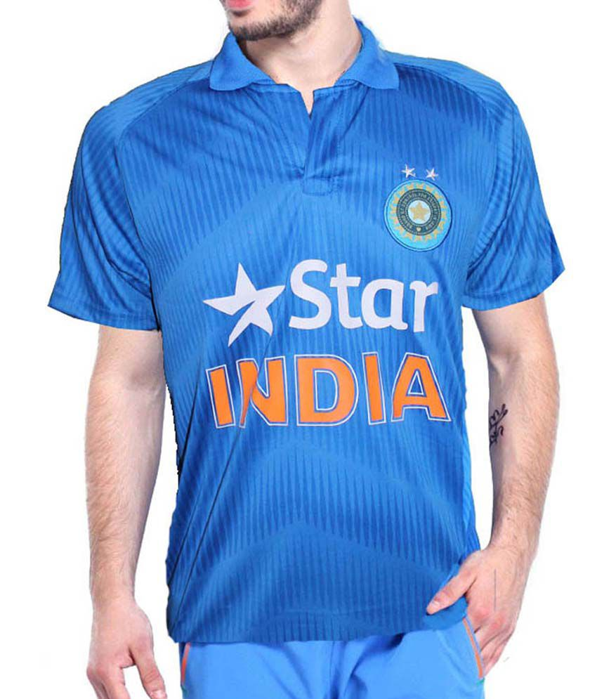 Star Blue Cricket Fan Replica jersey