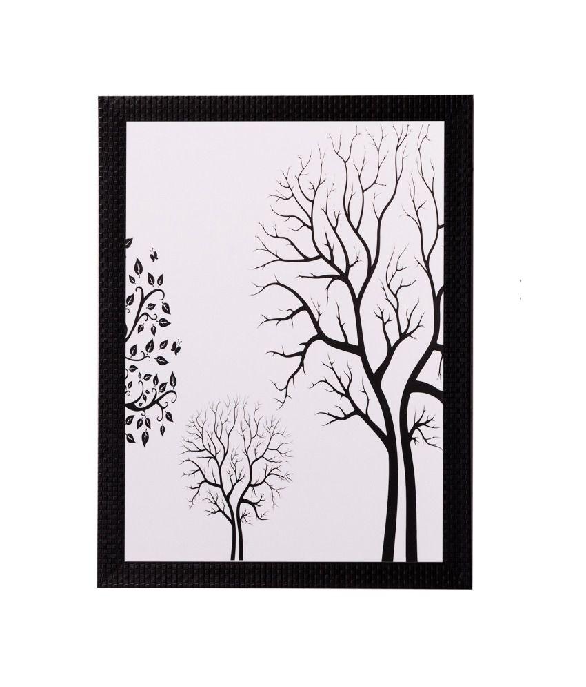 eCraftIndia Abstract Tree View Matt Textured Framed UV Art Print