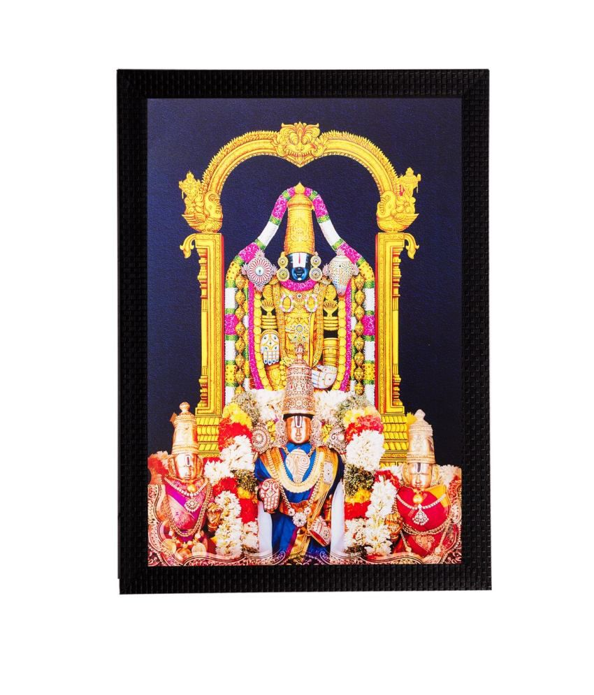 eCraftIndia Lord Balaji Matt Textured Framed UV Art Print