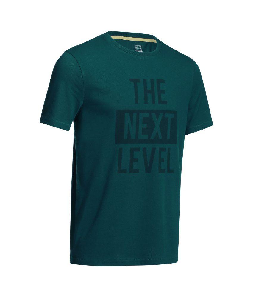 DOMYOS Microperf Men's Fitness T-Shirt By Decathlon
