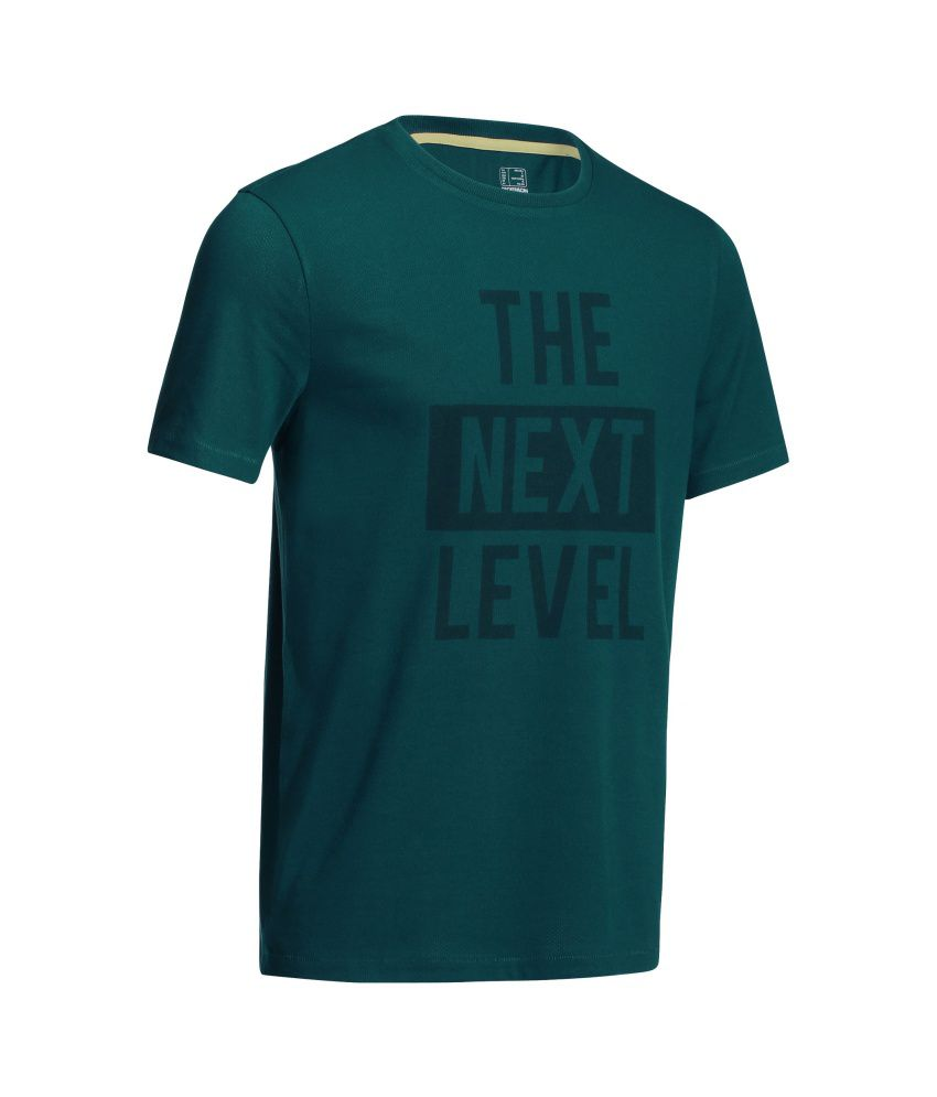 DOMYOS Microperf Men's Fitness T-Shirt By Decathlon