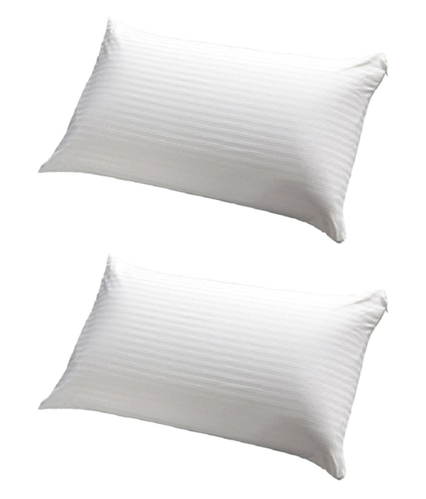 JDX White Polyester Pillows Pack Of 2