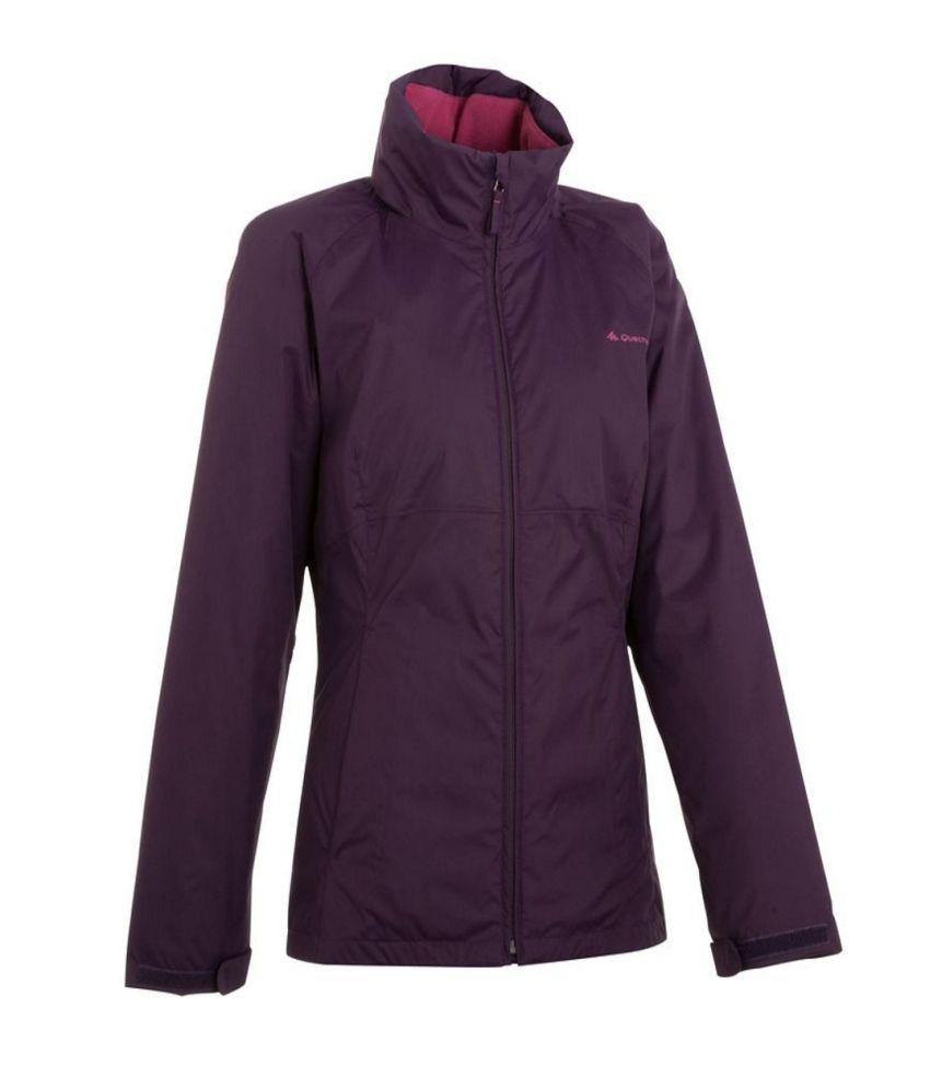 QUECHUA Arpenaz 100 Rain Women's Waterproof Hiking Jacket By Decathlon