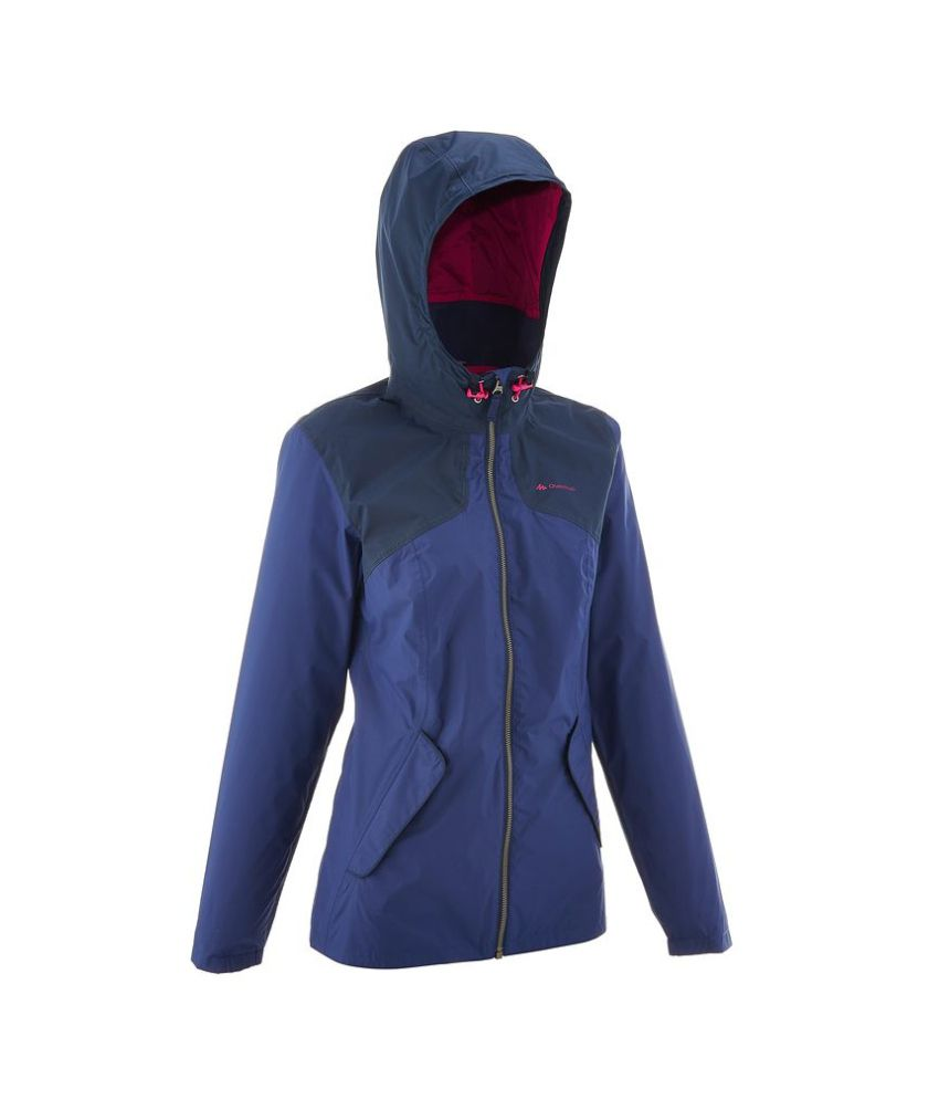 QUECHUA Arpenaz 100 Women's Hiking Rain Jacket By Decathlon