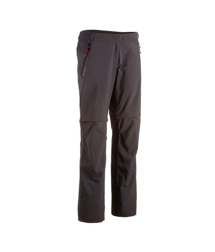 QUECHUA Forclaz 100 Women's Convertible Hiking Trousers By Decathlon