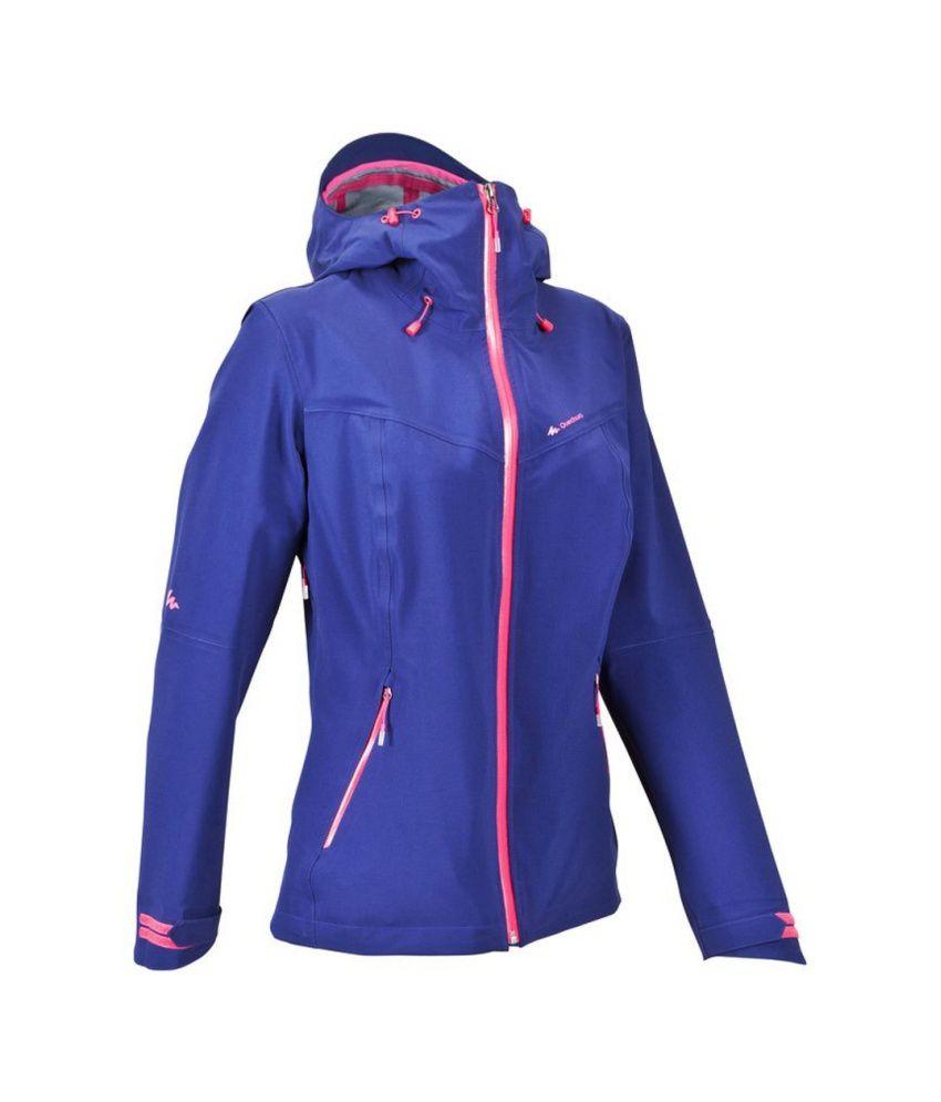 QUECHUA Forclaz 400 Women's Hiking Rain Jacket By Decathlon