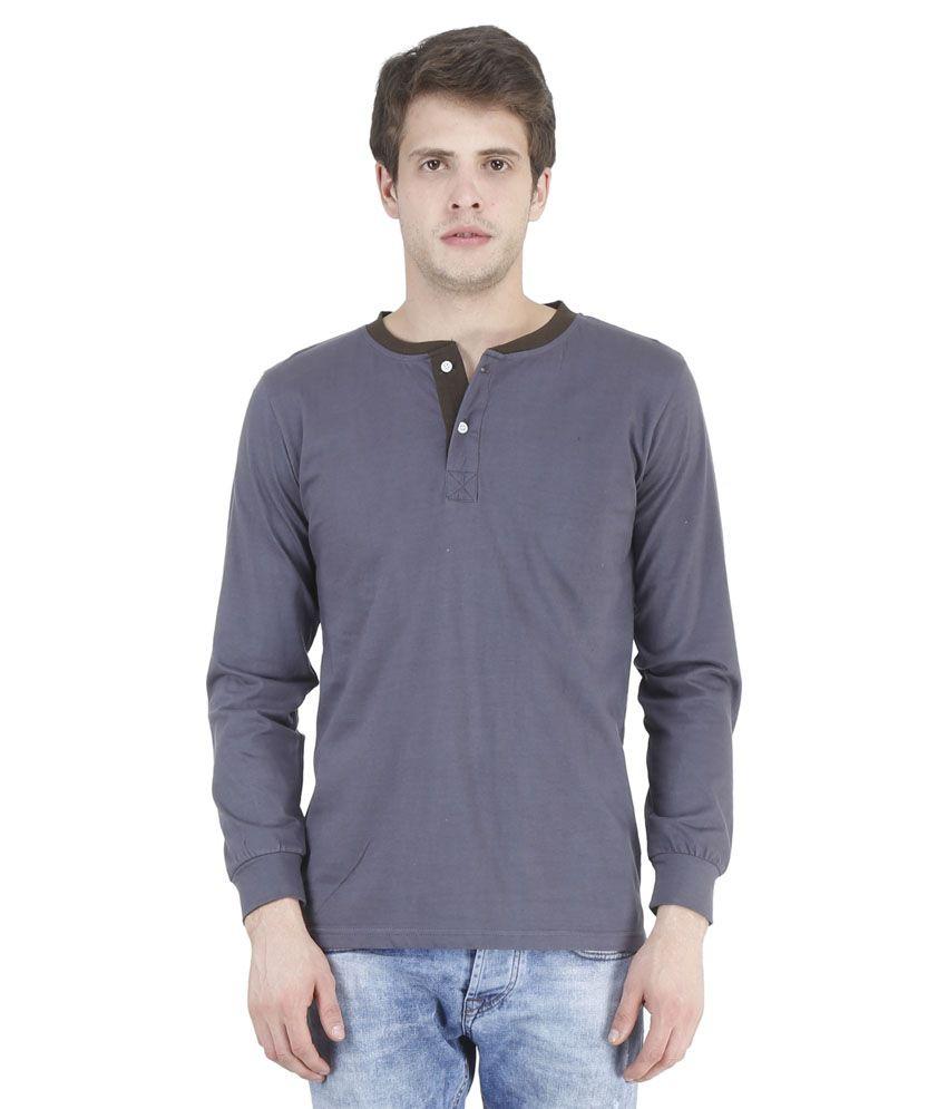Bonzer Grey Henley T Shirts
