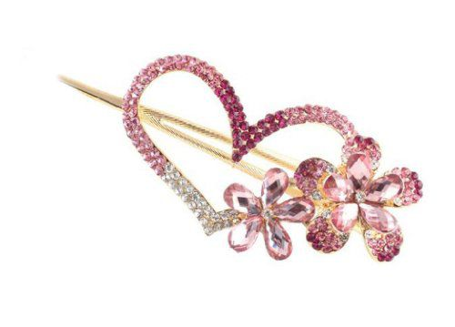 Oyang Imported Ibeauty Fashion Love heart Jewelry Crystal Hair Clips Hairpin for hair clip hairpins Beauty Tools