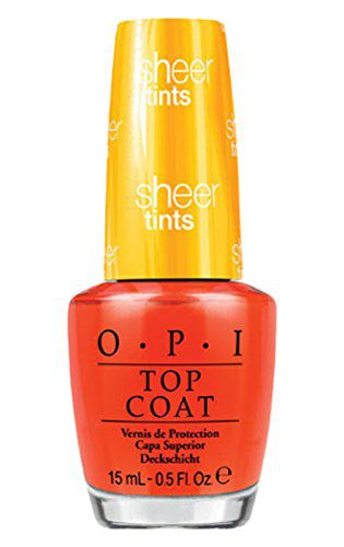 OPI Imported OPI Sheer Tint Topcoat, I'm Never Amberrassed, 0.5 Ounce