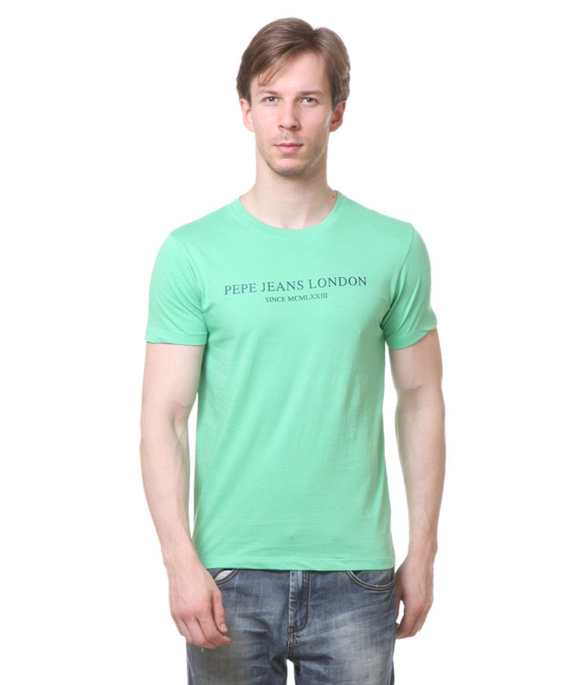 Pepe Jeans Green Round T Shirts