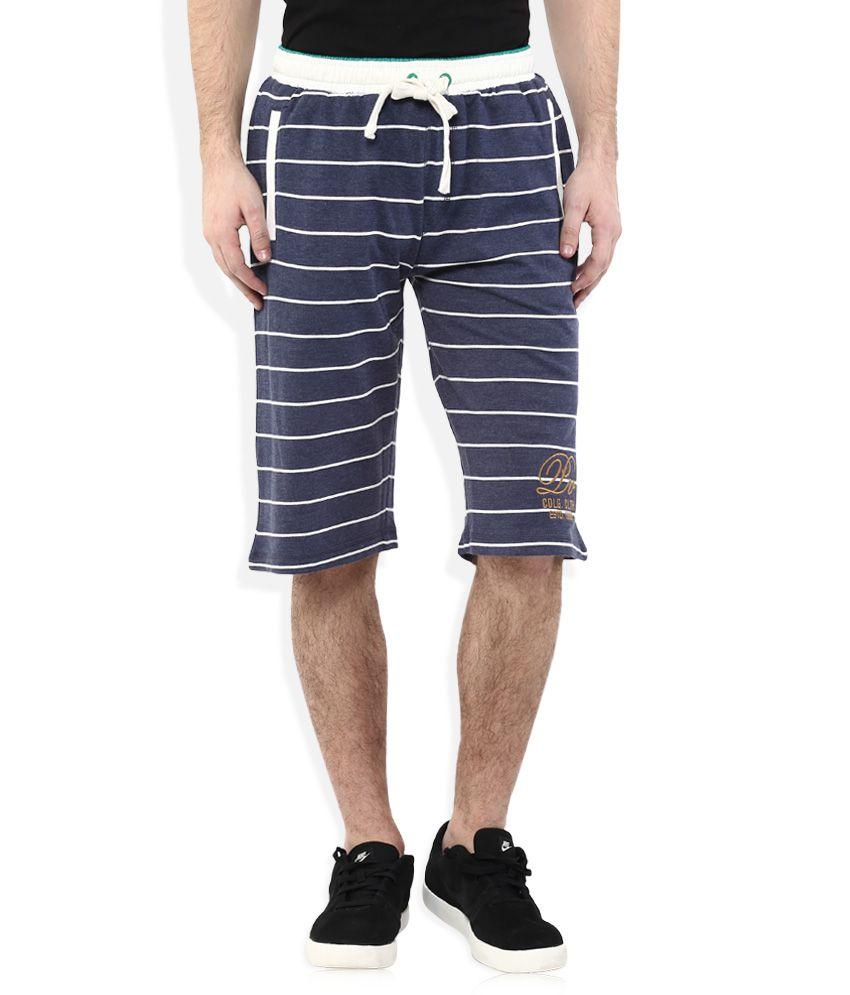 Proline Regular Fit Navy Shorts