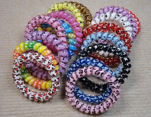 Wowlife 10x Plastic Stretchy Elastic Coiled Phone Wire Hair Bands Hair Tie  Ponytail Holder Band Multi-color Telephone Wire Cord El  Buy Wowlife 10x  Plastic ... f40ea562902
