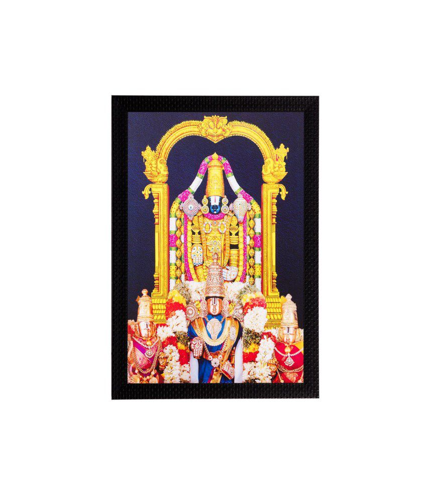 eCraftIndia Lord Balaji Matt Textured Framed UV Art Print