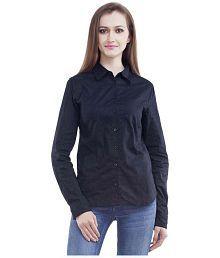 Mansi Collections Black Cotton Shirts