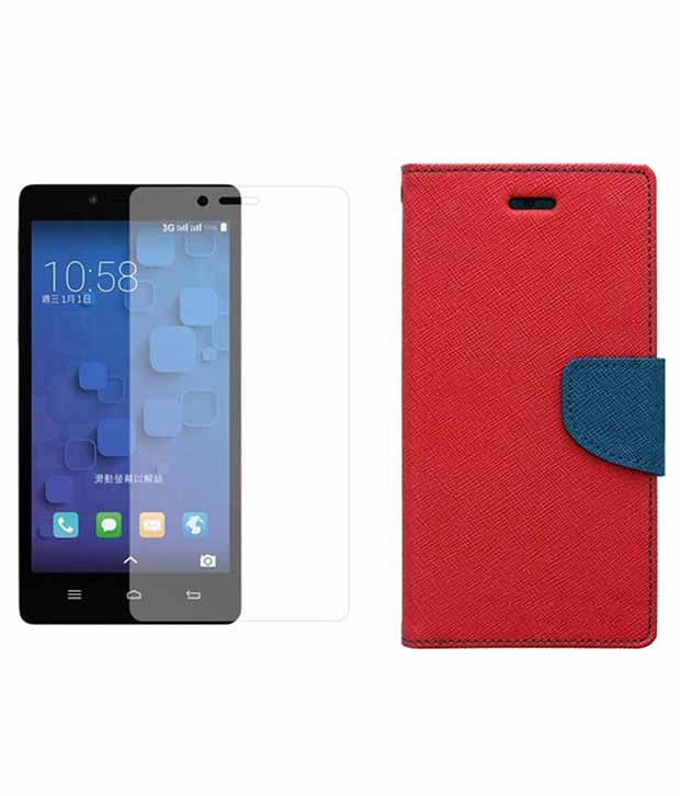 Vcraft Flip Cover for HTC Desire 820 - Red