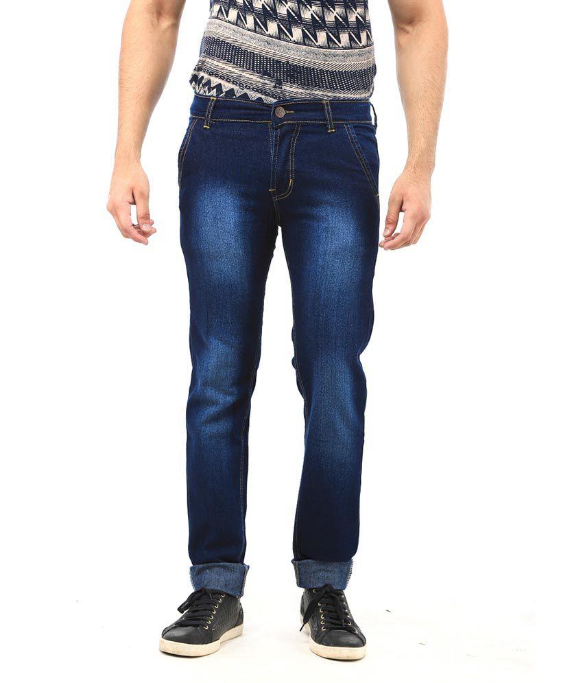 AVE Blue Regular Fit Jeans