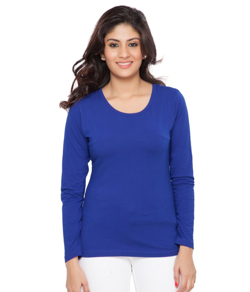 Clifton Blue Full Sleeves Tees for Women