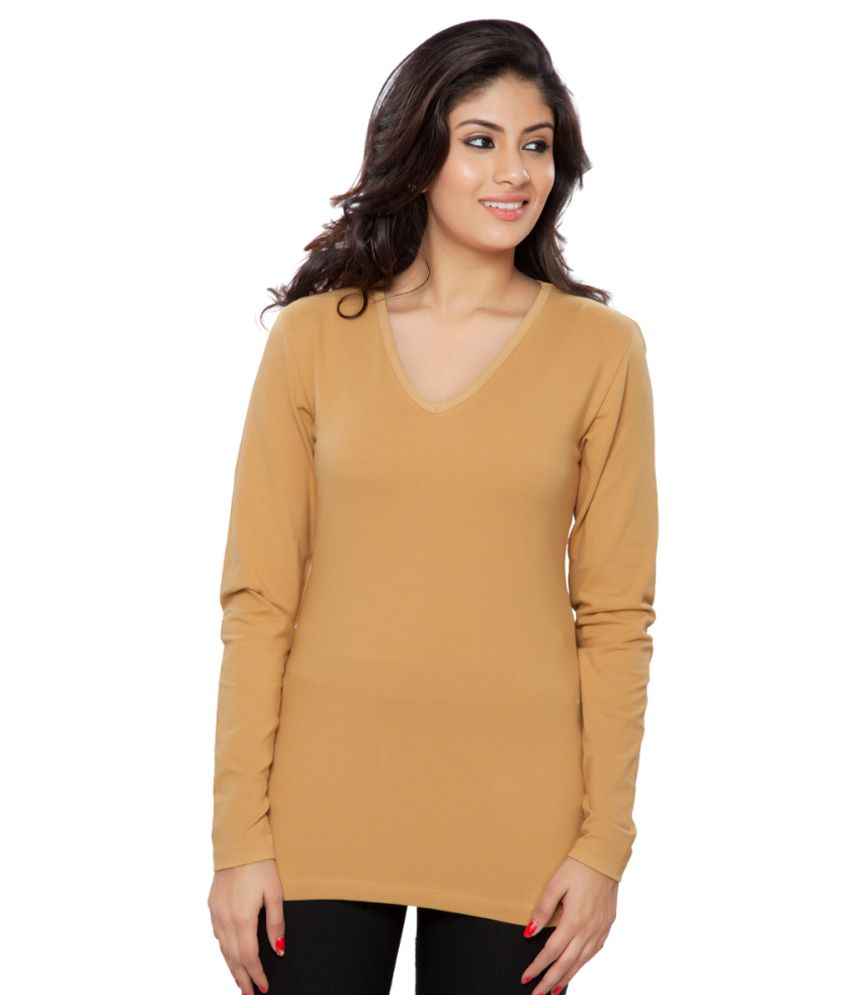 Clifton Yellow Full Sleeves Tees for Women