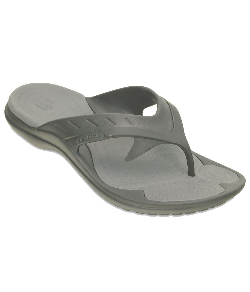 Crocs Relaxed Fit Gray Slippers & Flip Flops