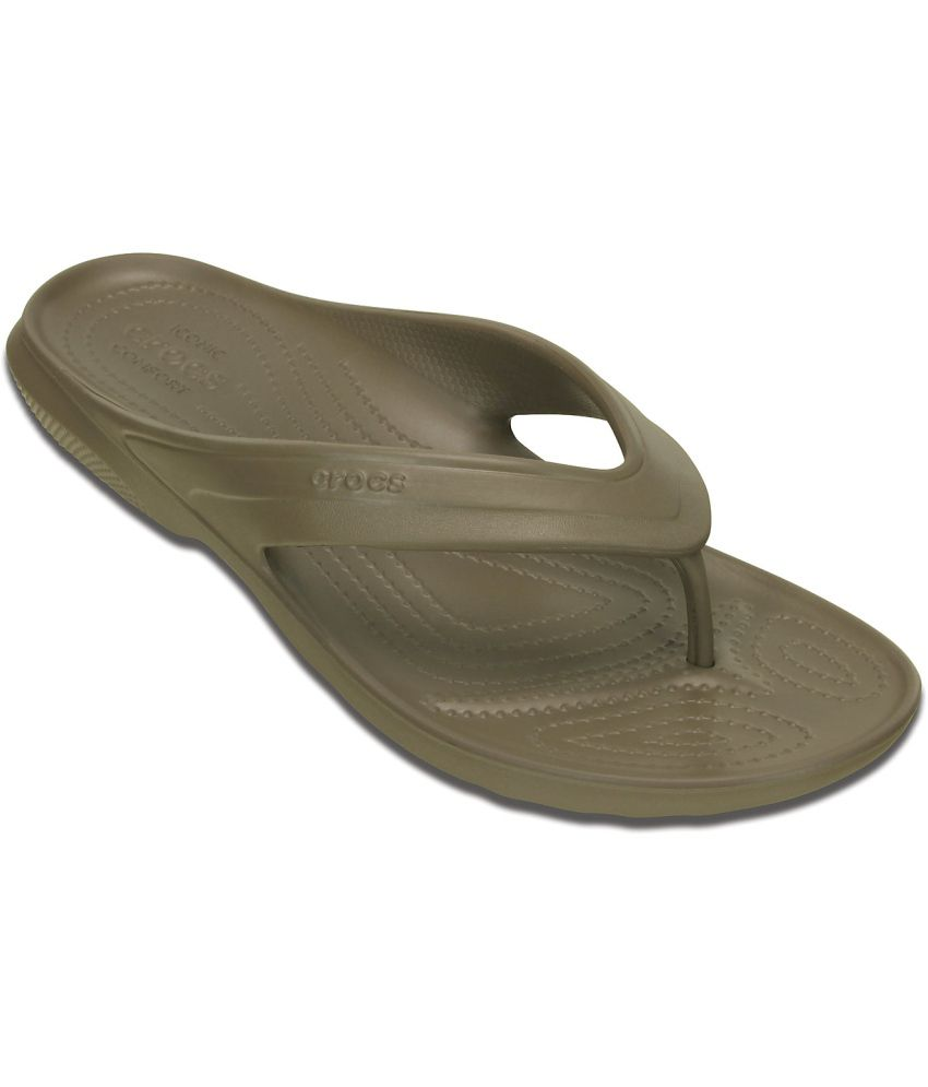 Crocs Relaxed Fit Green Slippers & Flip Flops