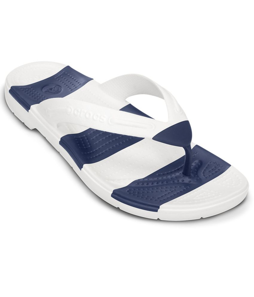 Crocs Relaxed Fit White Slippers & Flip Flops