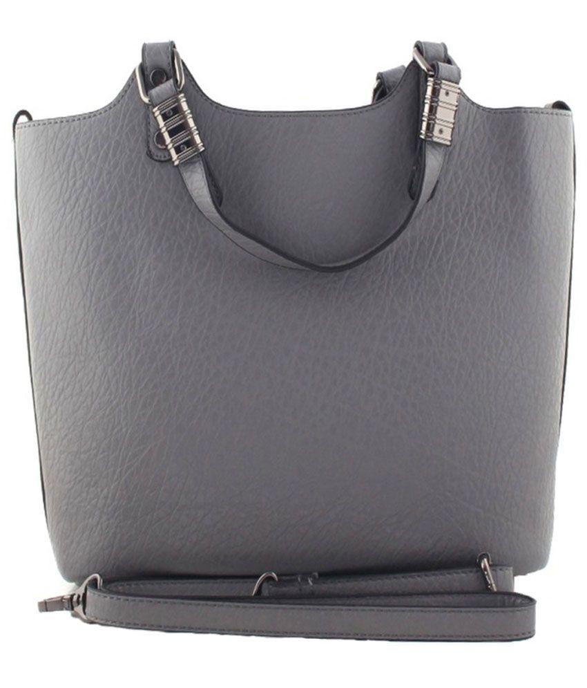 Heavendeal Gray P.U. Shoulder Bag