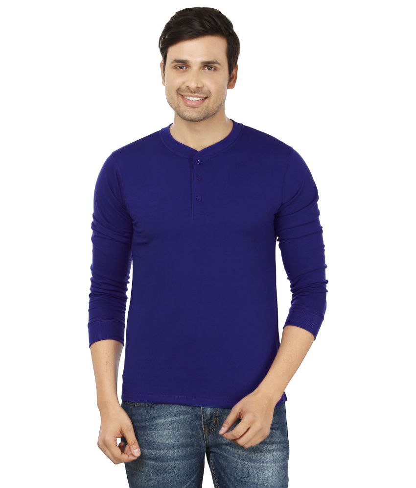 Weardo Blue Henley T Shirts