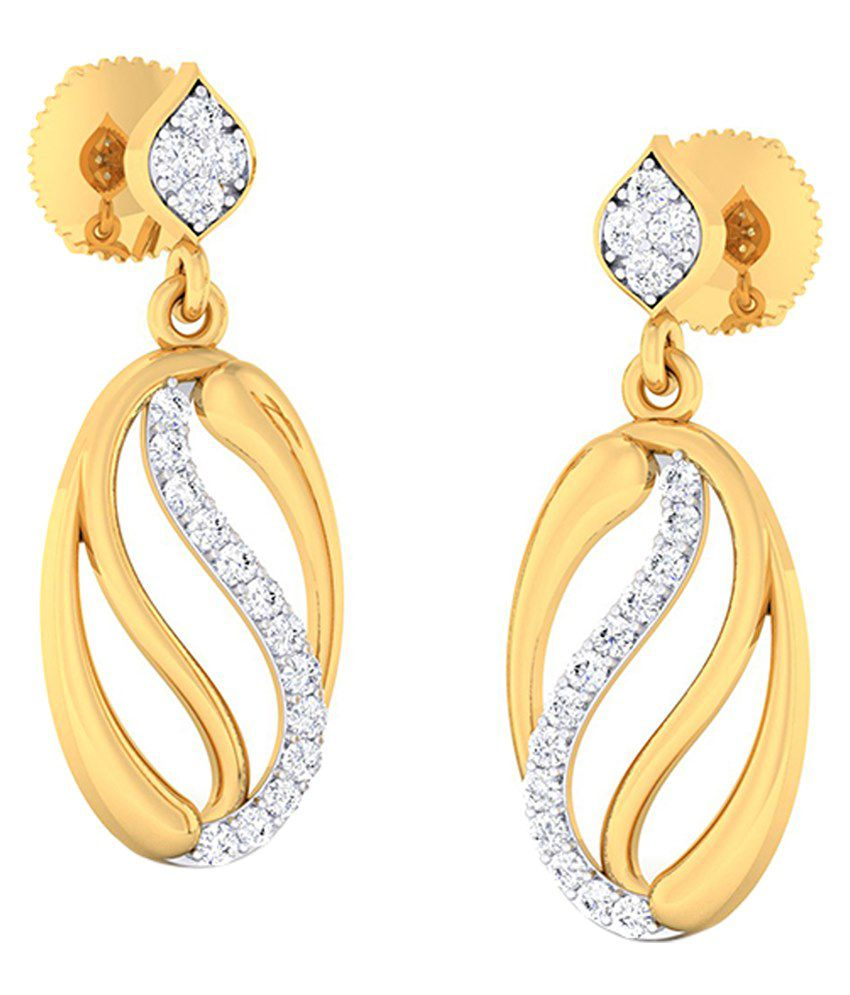 Abhijewels 18kt Gold Diamond Earrings