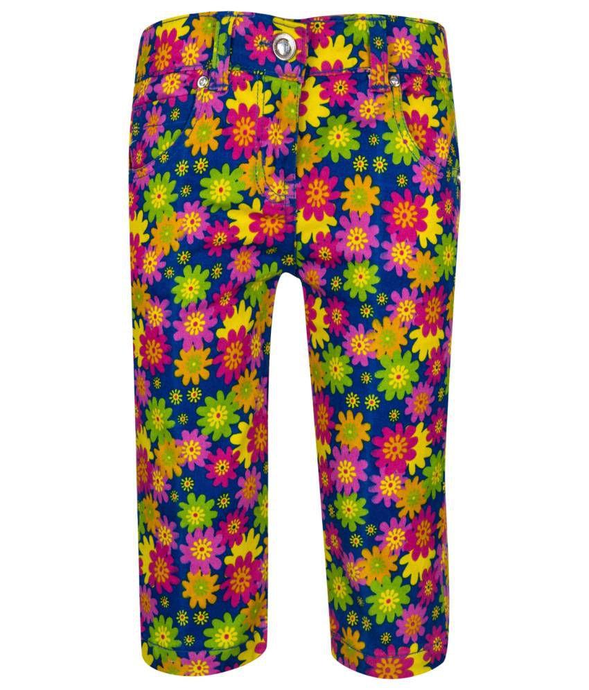 Tickles Multicolour Cotton Capris for Girls