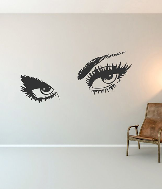 rawpockets black women's eye design wall sticker - buy rawpockets