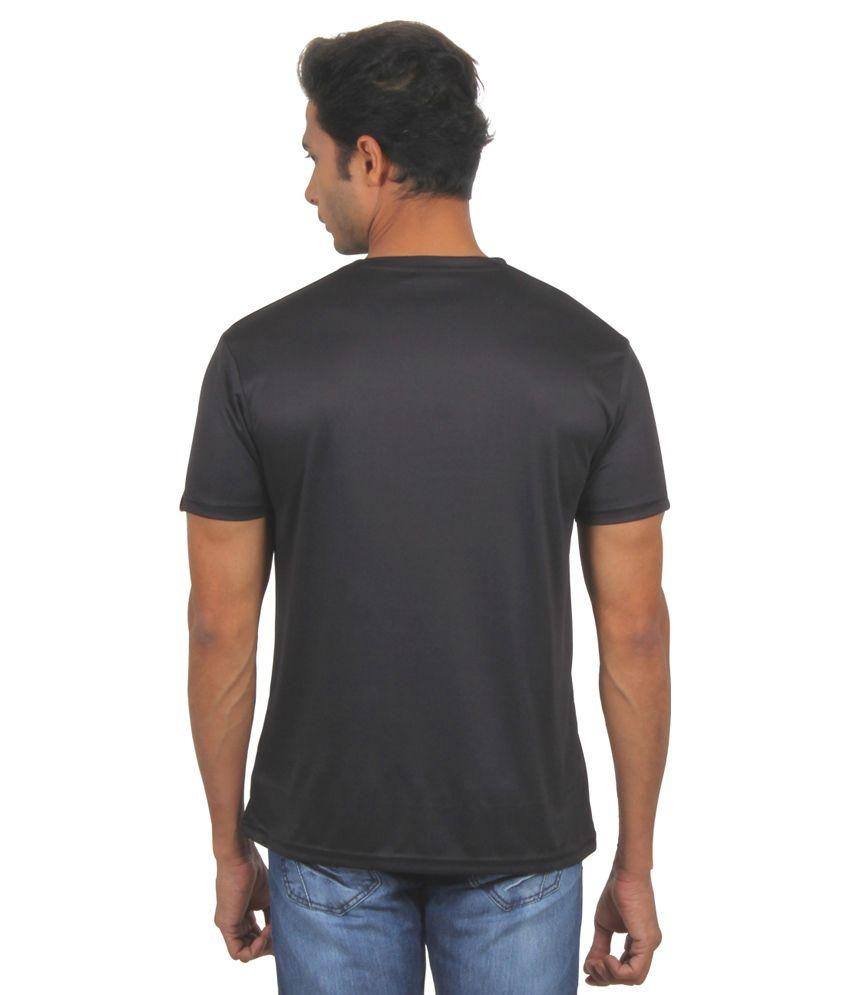 FanIdeaz Friends Best Tv Series of All Time Black Silky Polyester T Shirt for Men
