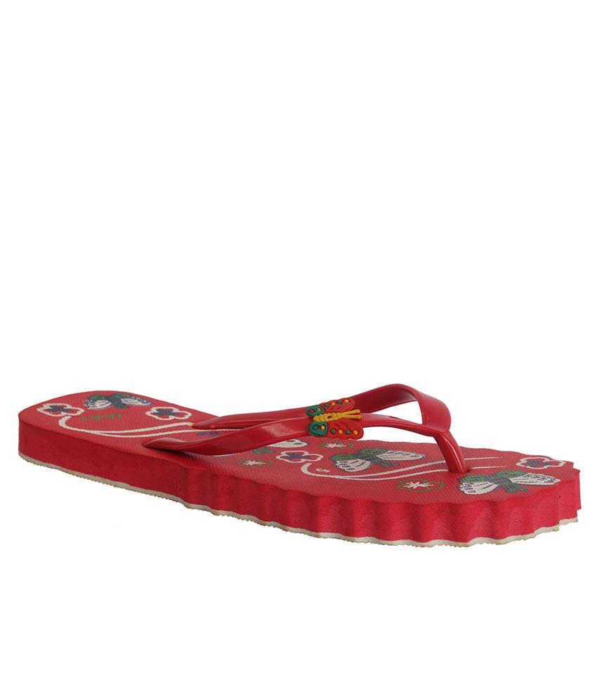 VE Sweet Red Slippers & Flip Flops