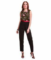 Sassafras Black Polyester Jumpsuits