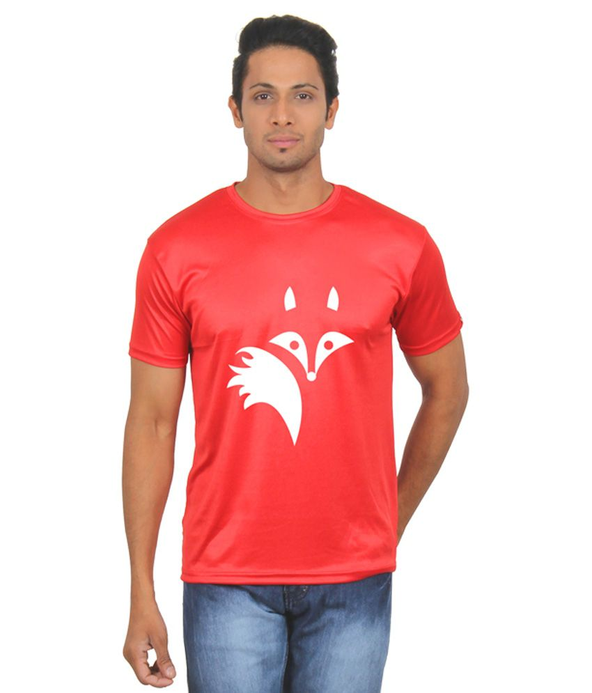 FanIdeaz Red Round T Shirts