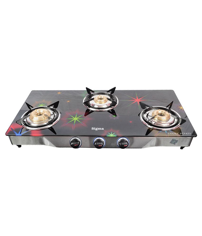 Sigma S008 Manual Ignition Gas Cooktop (3 Burner)