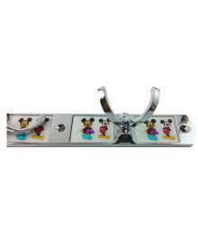 Docoss -  Cartoon 4 Pin  Bathroom Hooks/ Rail Wall Hook  Stand For Kids Room  ( Cloth Towel Hanger Hooks)