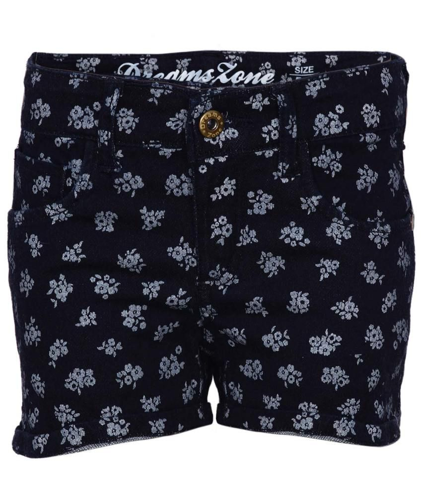 Dreamszone Black Cotton Blend Shorts