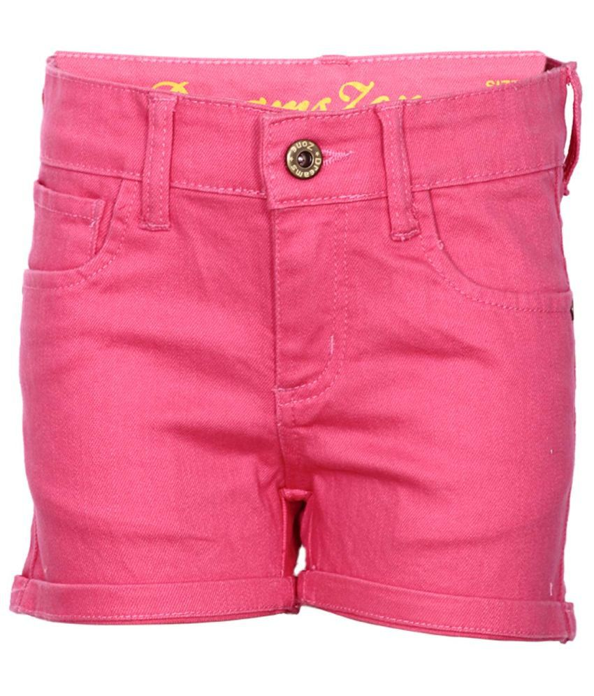 Dreamszone Pink Cotton Blend Shorts