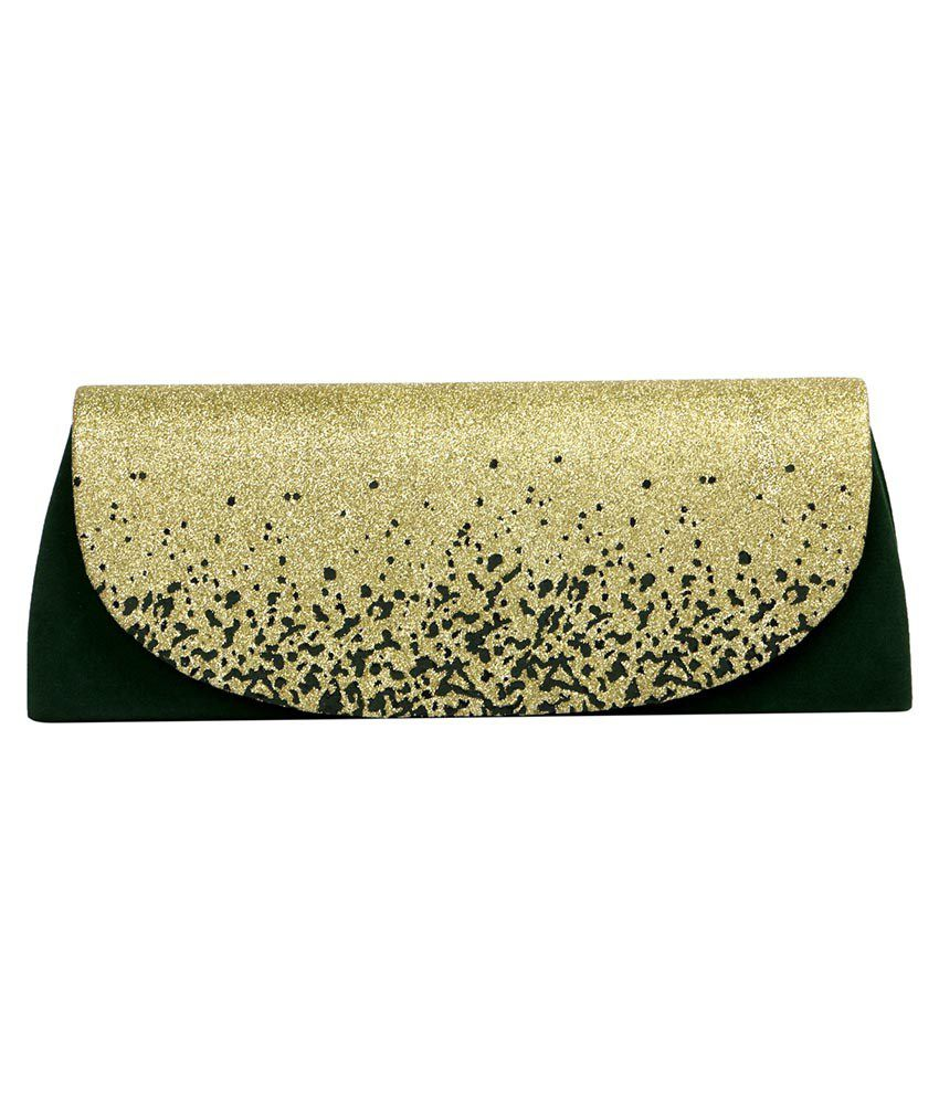Kny Hedaly Green Fabric Clutch