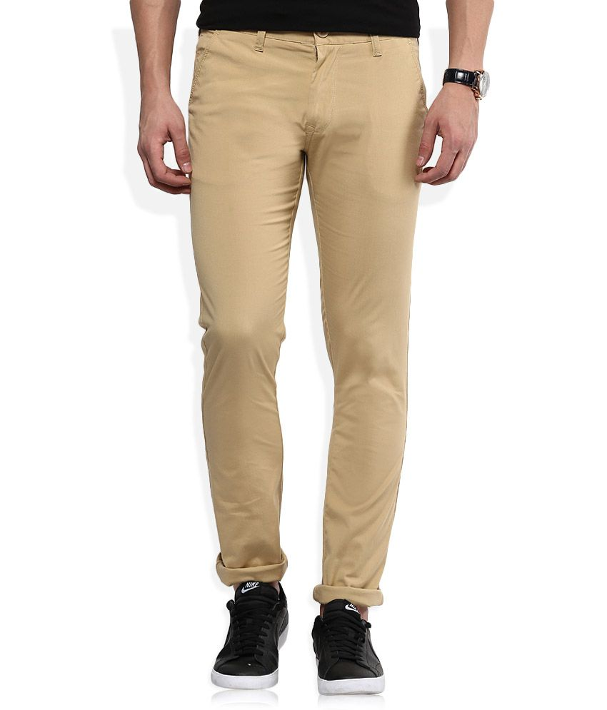 Integriti Khaki Slim Fit Chinos