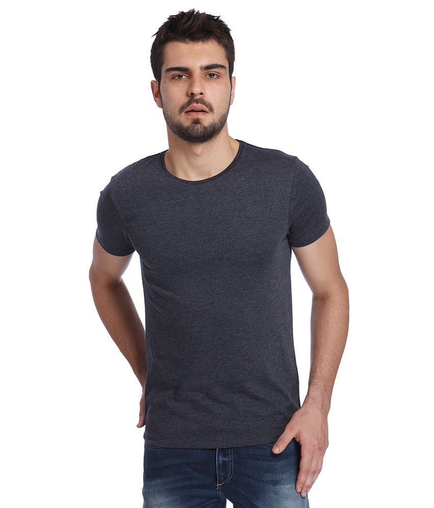 Jack & Jones Grey Round Neck T Shirt