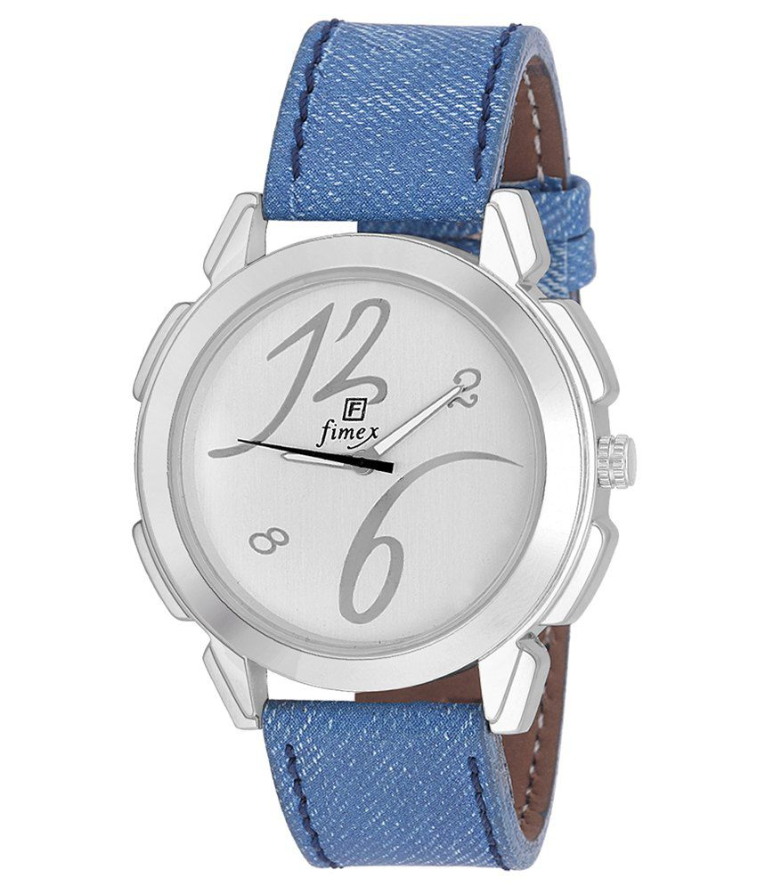 Fimex Blue Leather Analog Watch